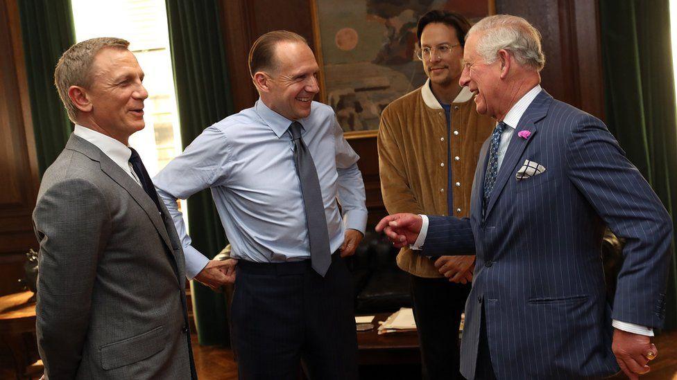 Daniel Craig, Ralph Fiennes, Cary Fukunaga and Prince Charles