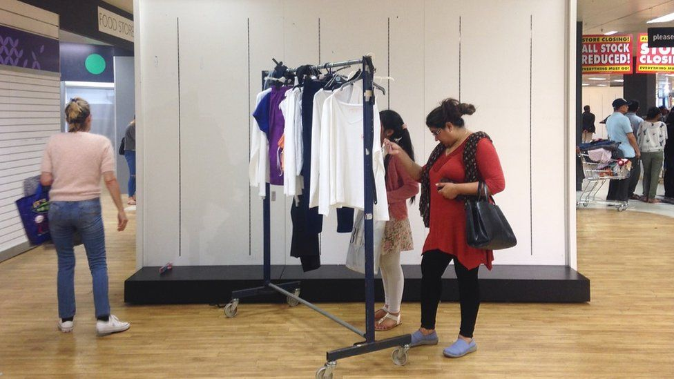 Shoppers in BHS Wlathamstow