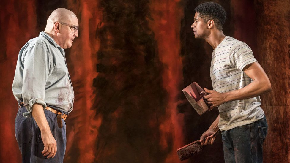 Alfred Molina and Alfred Enoch Red