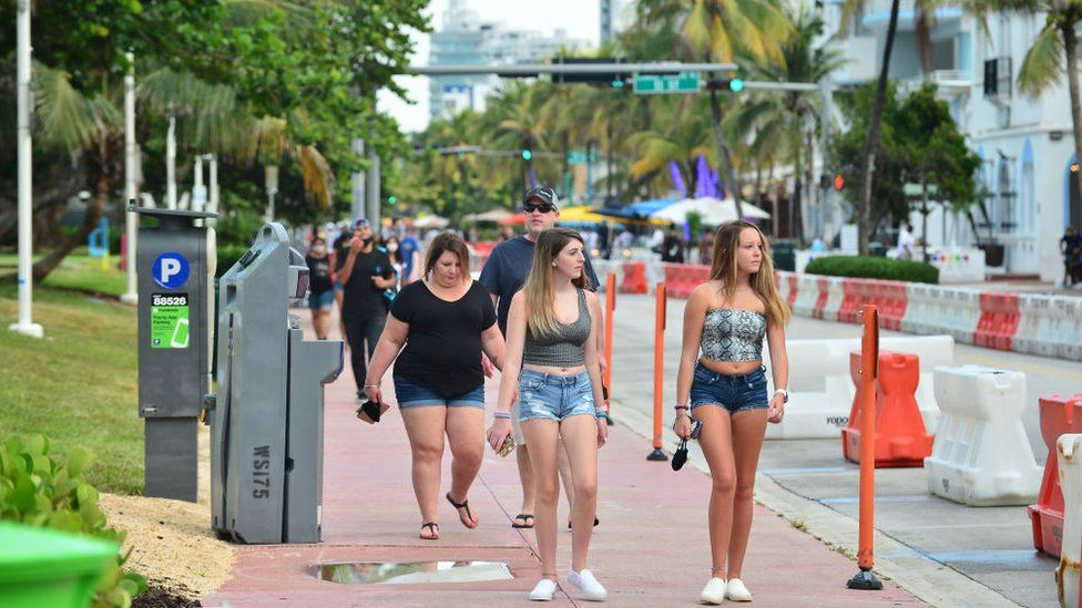 Young people seen out in Miami