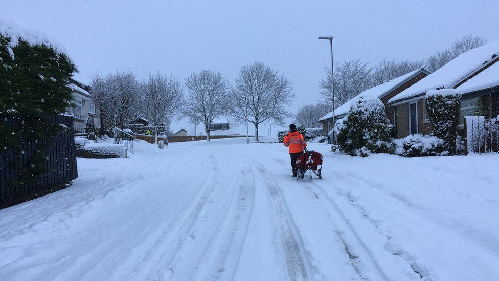 Postal worker in Dunblane