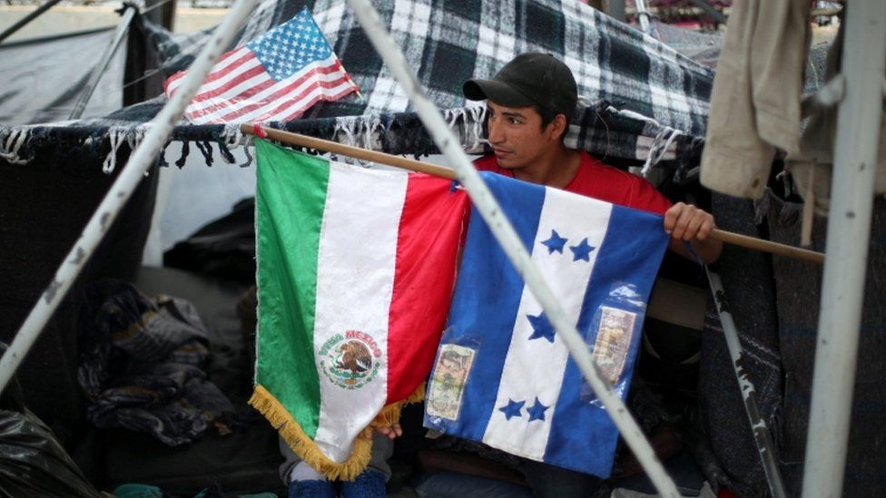 About 3,000 members of the caravan have so far arrived in Tijuana