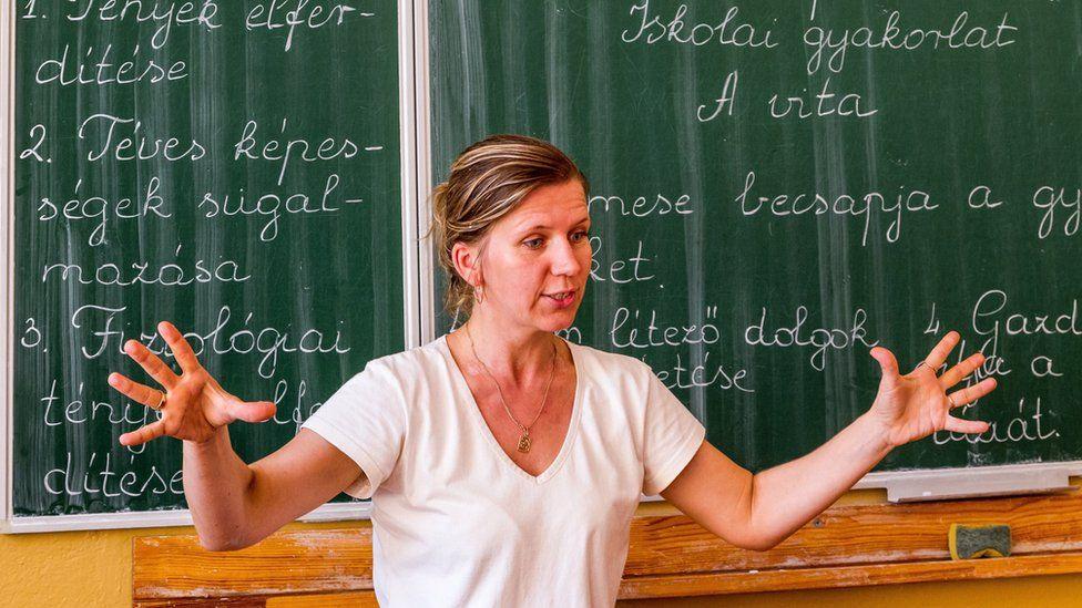 Hungarian language teacher in Uzhhorod, western Ukraine, 11 Sep 17