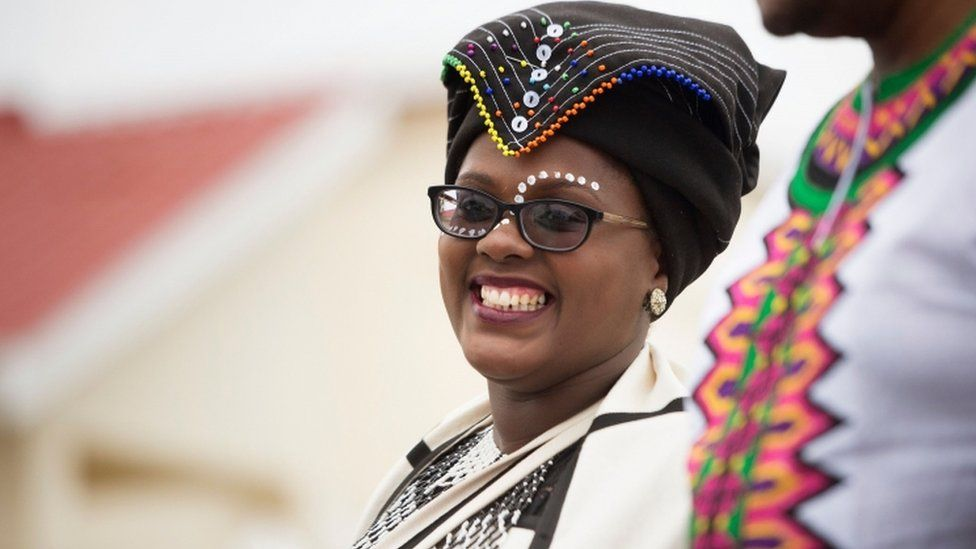 A woman who is getting married on Robben Island on 14 February 2020.