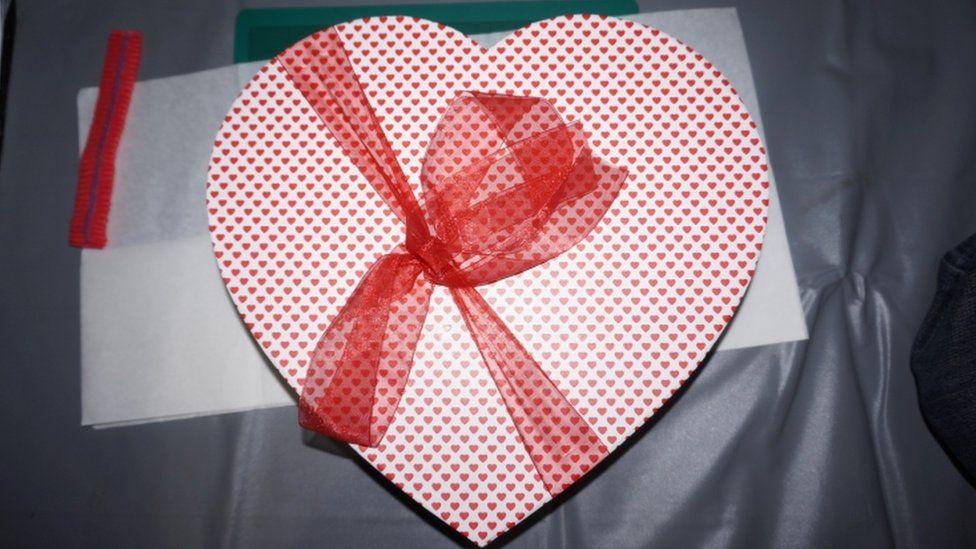 The heart-shaped box that held Safaa Boular's secret phone