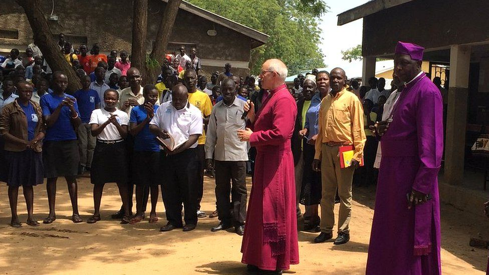 Justin Welby and Archbishop of Uganda, the Most Reverend Stanley Ntagali
