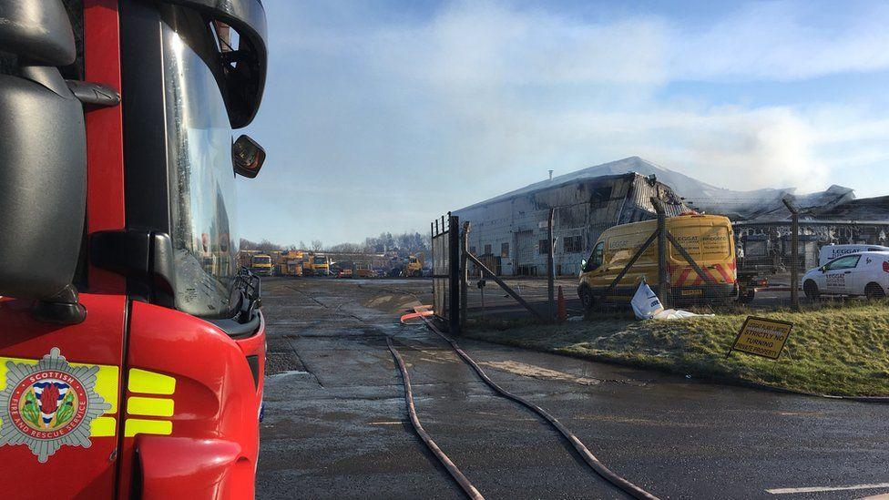 fire at Leggat plant