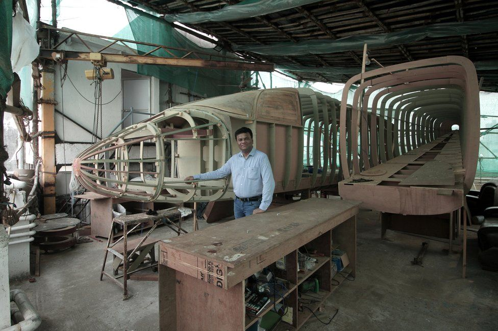 Amol Yadav with his new plane prototype