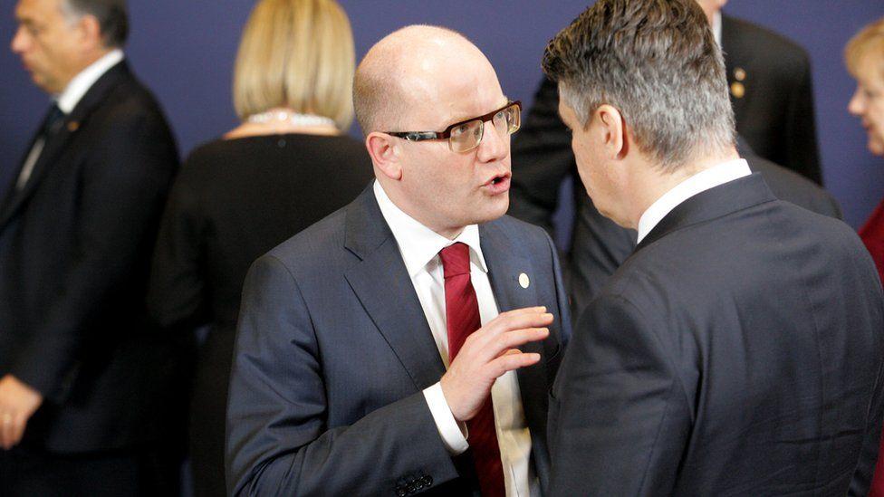 Czech PM Bohuslav Sobotka (file pic)