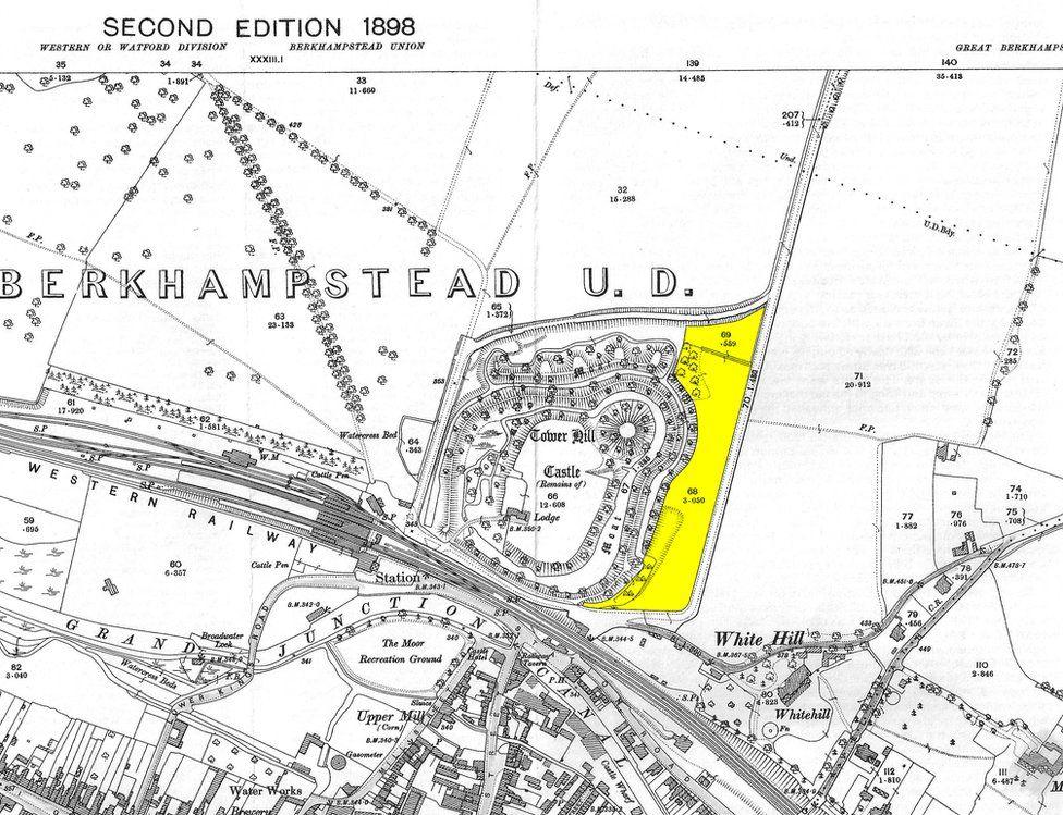 Berkhamsted Castle map