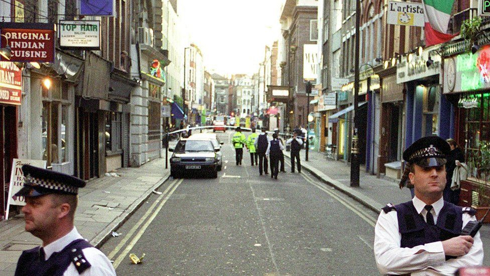 The scene after the Soho bombing