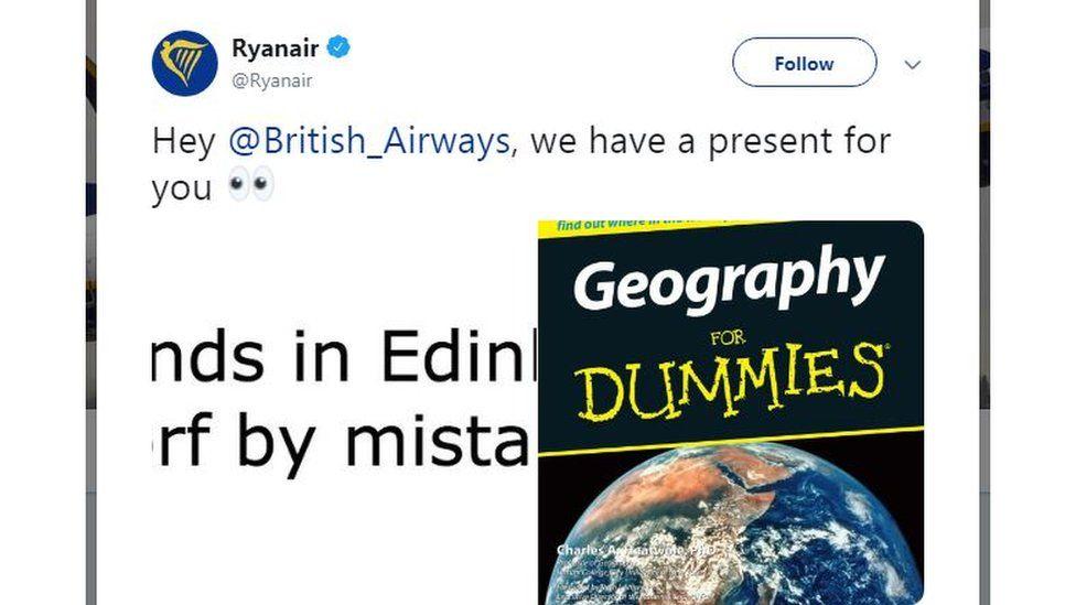 Ryanair tweet