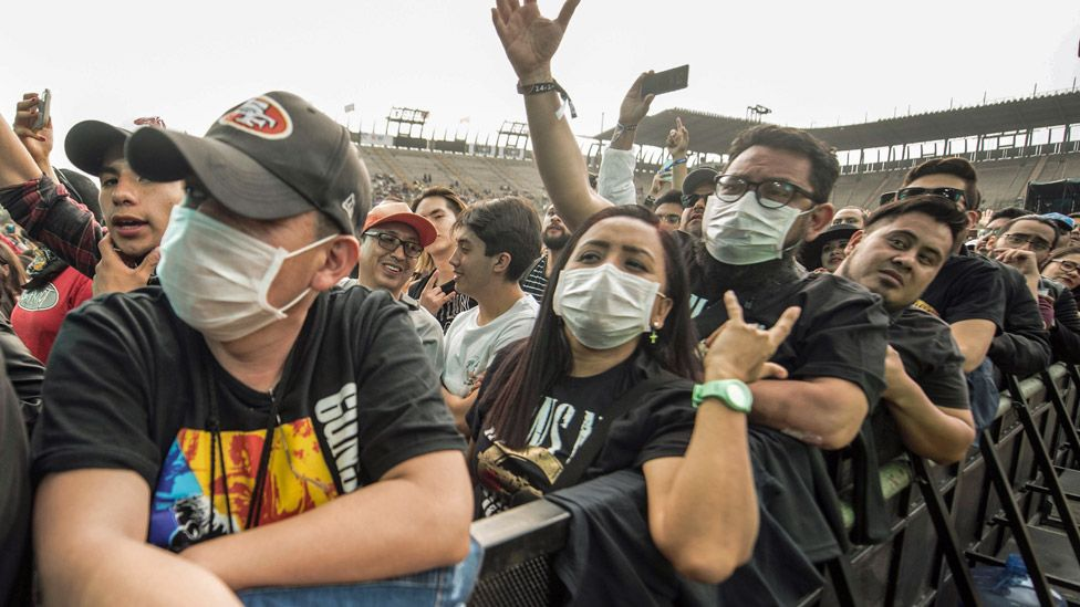 Music fans at the Vive Latino music festival in Mexico in March