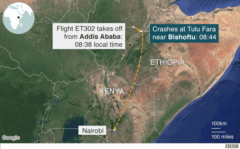 Ethiopian Airlines 737 Max crash: Six charts on what we know so far 106008148 ethiopian airliner crashv4 976