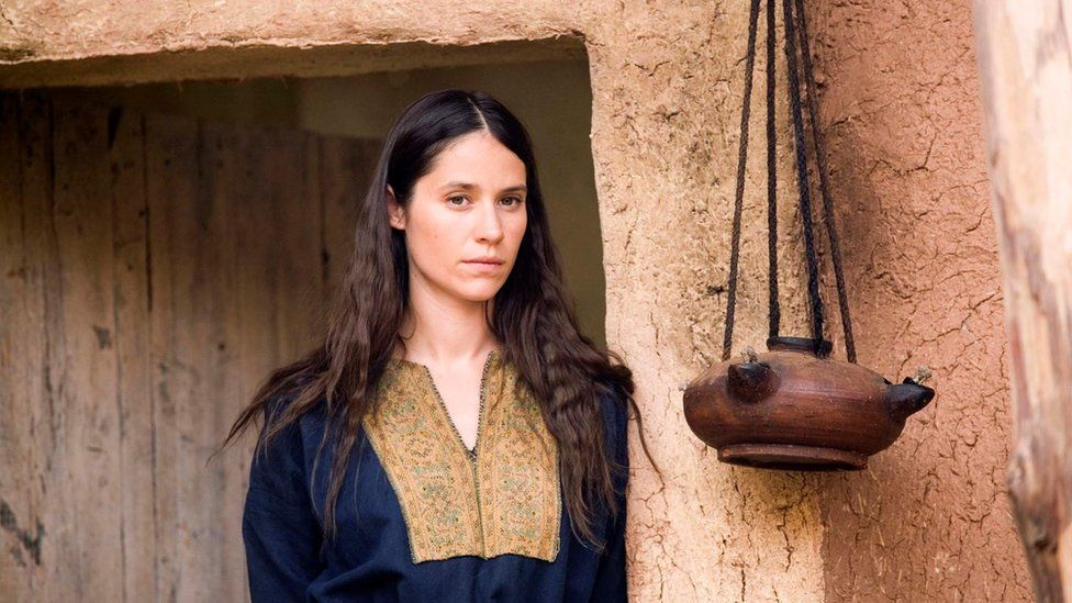 Paloma Baeza playing Mary Magdalene in The Passion, shown on BBC1 in 2008.