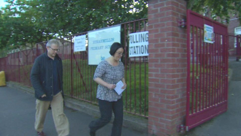 Voters were out early in Northern Ireland at the polling stations