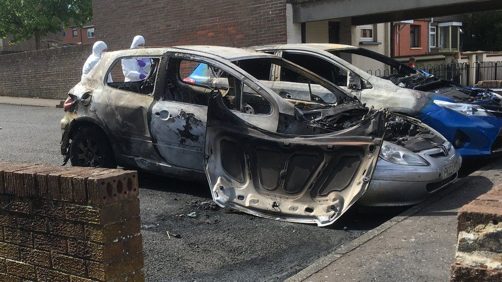 burnt out car derry