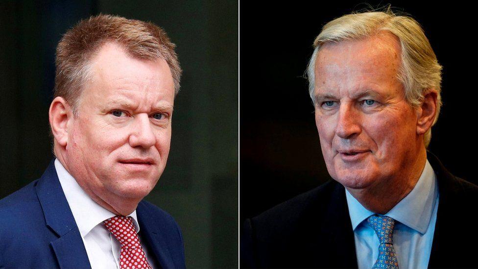 David Frost (l) and Michel Barnier (r)