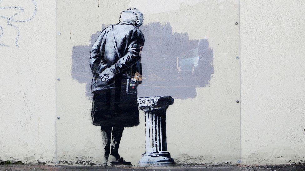 Art Buff, a Banksy drawing in Folkestone