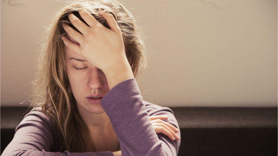 Women feeling extreme tiredness