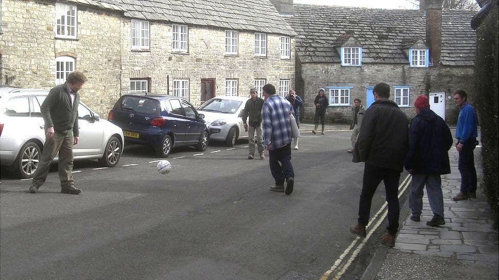 Shrove Tuesday Football in Corfe Castle