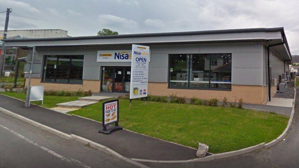 The supermarket allegedly raided by burglars