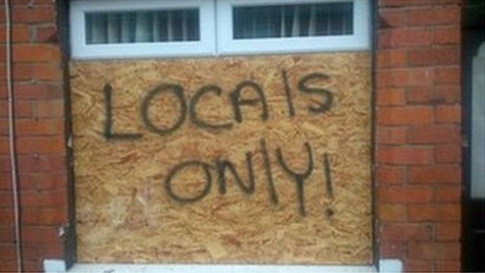 Foreign families living in Northern Ireland have been the target of racist attacks