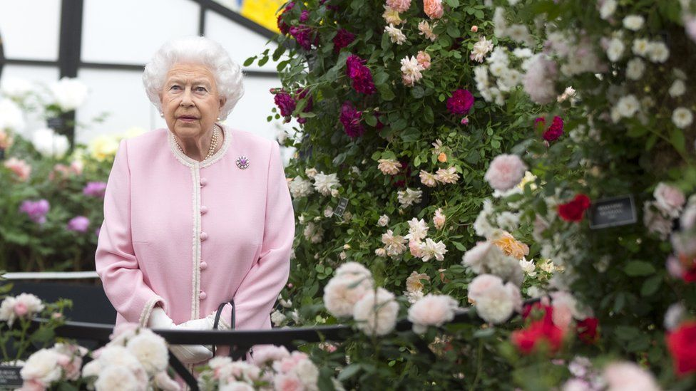 The Queen at Chelsea Flower Show in 2018
