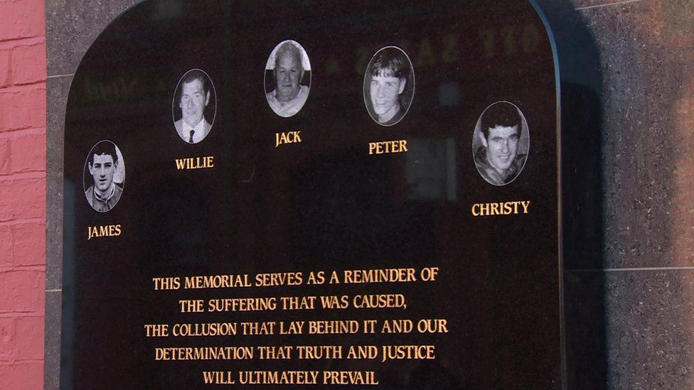 A memorial to the victims of the betting shop attack