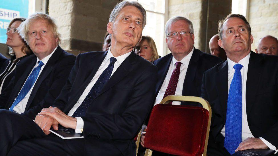 Wilbur Ross has met Boris Johnson (far left), Philip Hammond (left) and Liam Fox (far right) in recent days