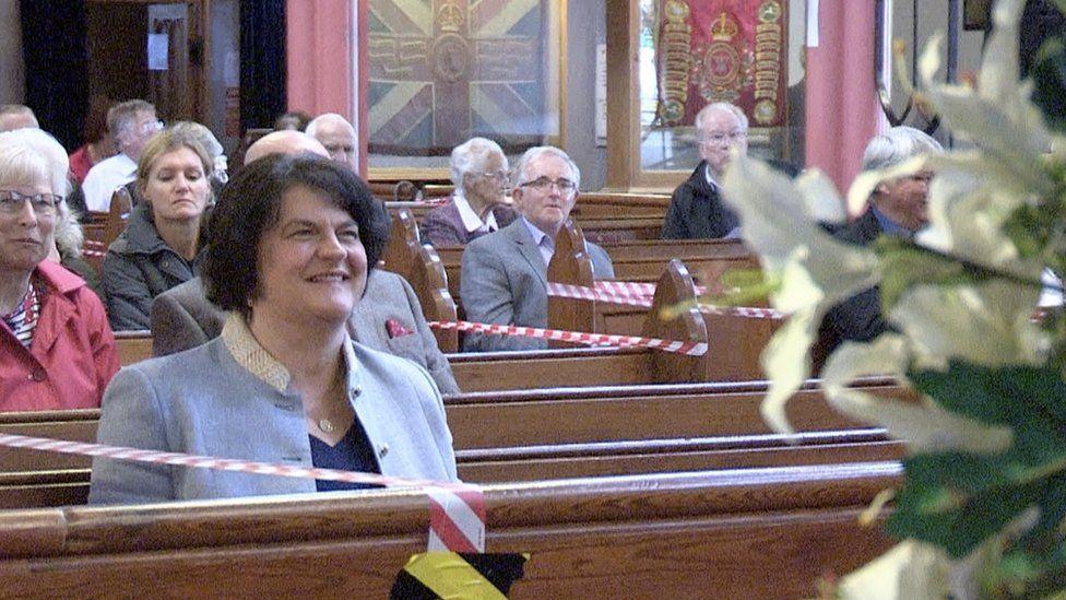Arlene Foster at church