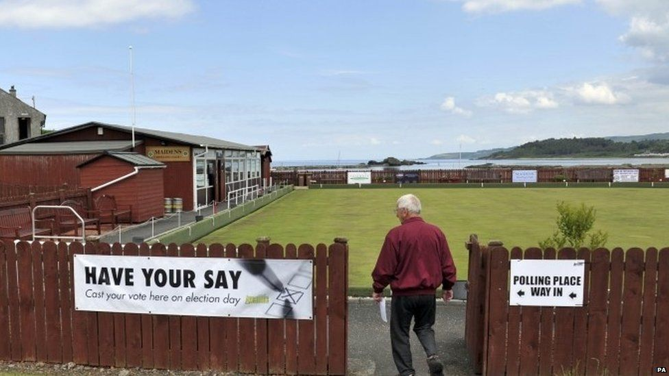A bowling club turned into a temporary polling station in June's referendum