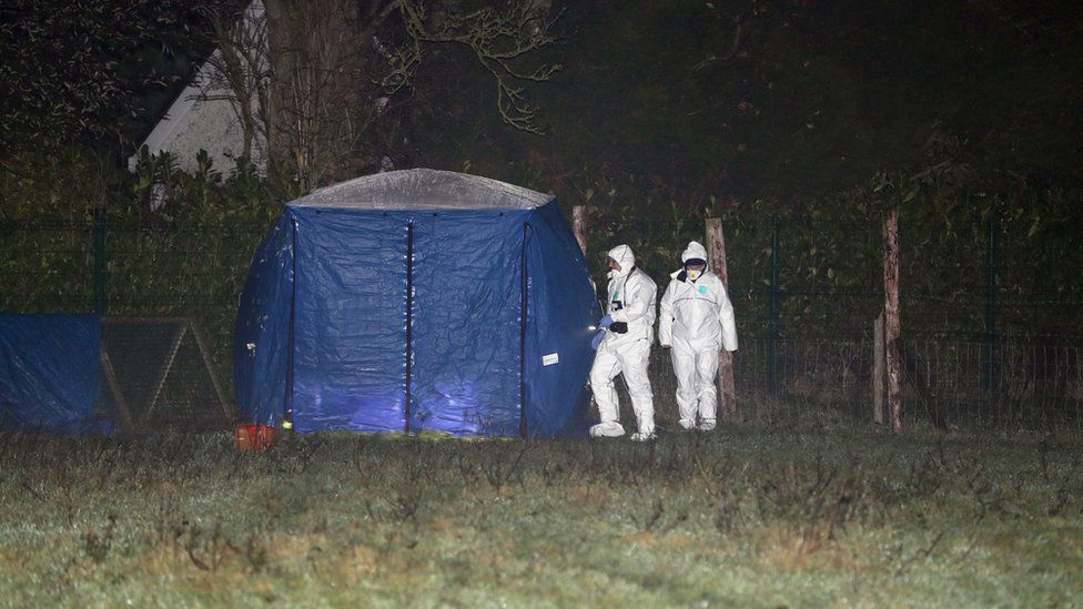 Forensic investigators have been deployed to examine the scene