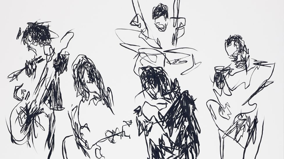 Todd DiCiurcio's drawing of The Strokes Live at Madison Square Garden in 2011