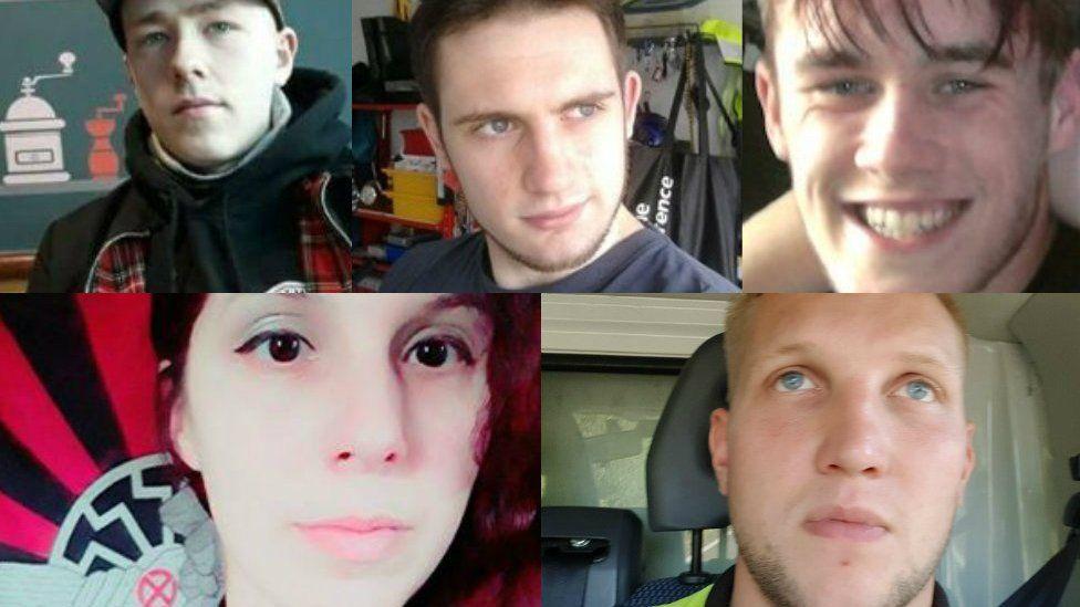 (Clockwise from top left) Adam Thomas, Darren Fletcher, Joel Wilmore, Nathan Pryke and Claudia Patatas