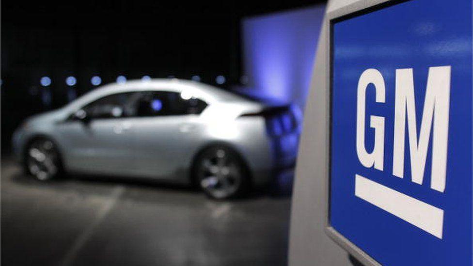 GM car and logo