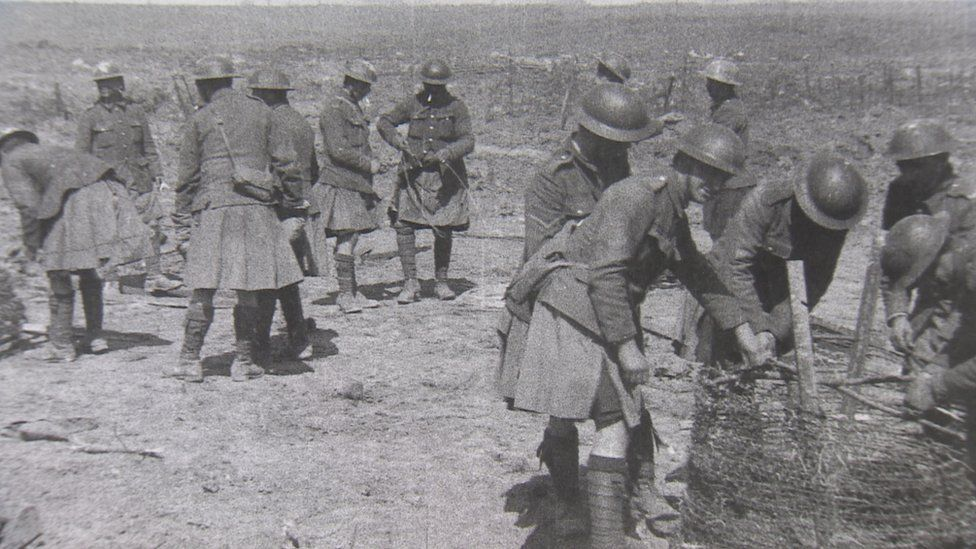 Scottish troops at Arras