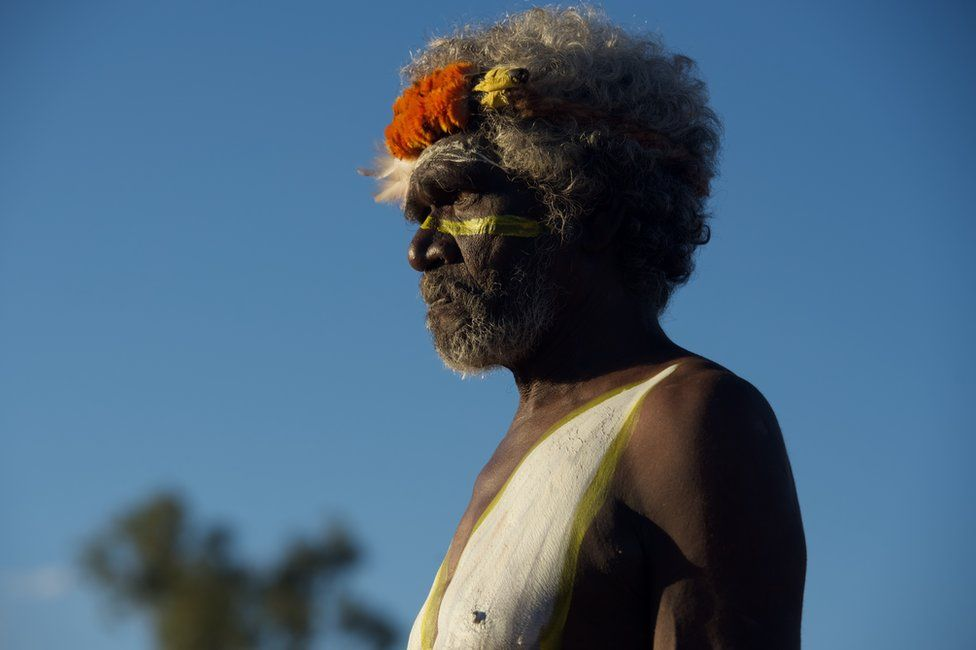 A community leader from Arnhem Land at the opening ceremony