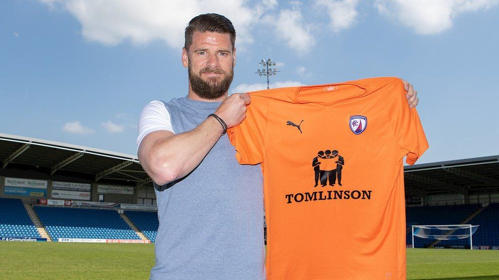 Michael Nelson after joining Chesterfield FC