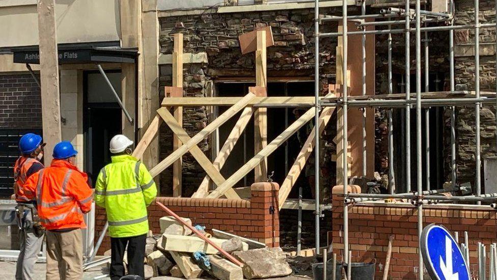 Scene of the explosion in St Paul's Bristol
