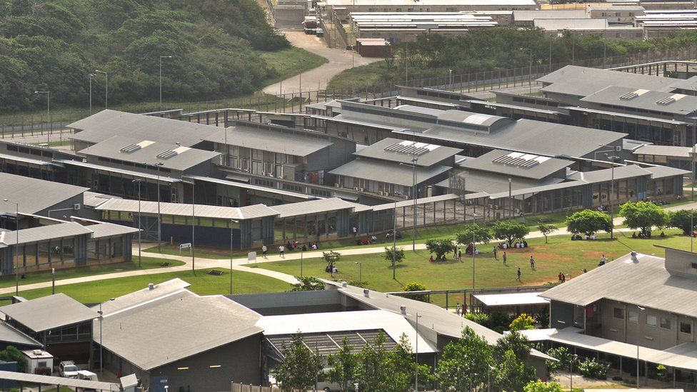 An aerial view of facilities at the Christmas Island detention centre