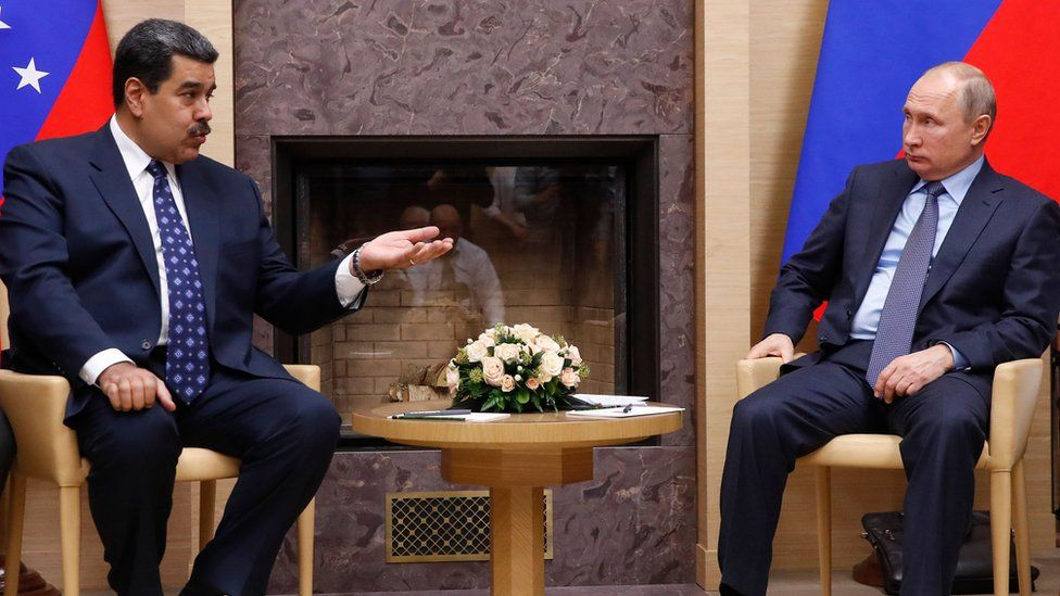 President Maduro and President Putin at a meeting in Moscow in December 2018