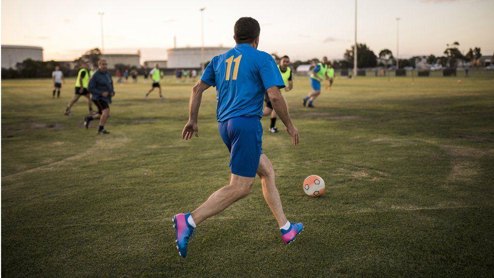Amateur football game