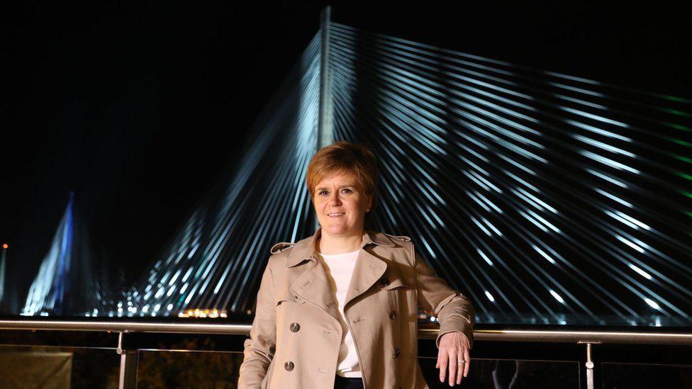 Nicola Sturgeon on the Queensferry Crossing