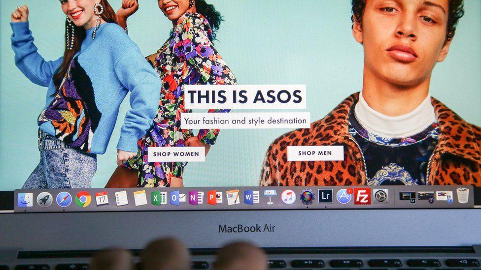 ASOS on a laptop