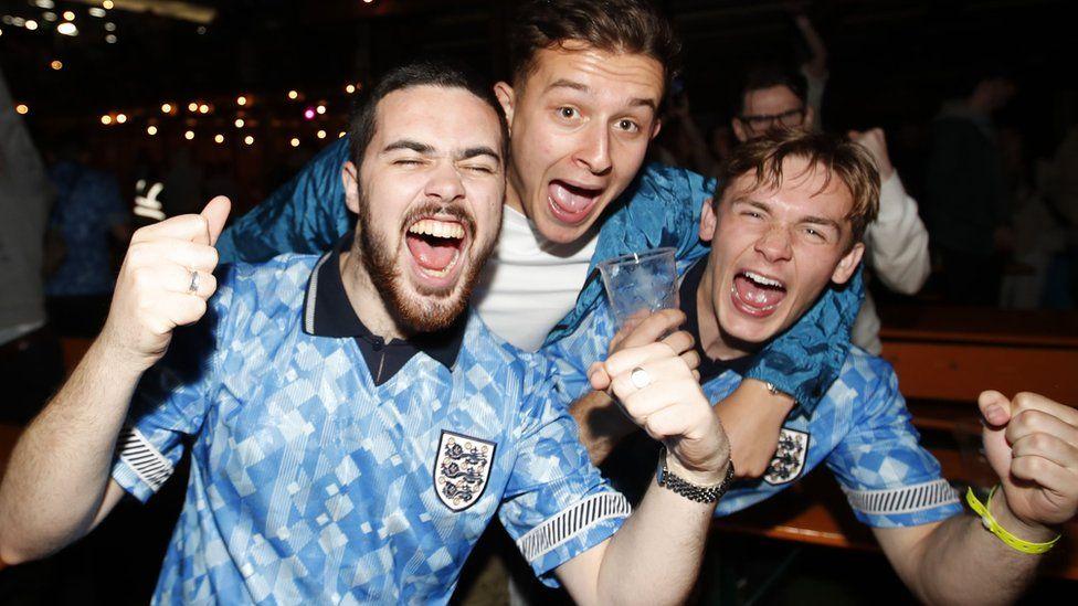 Fans celebrate at London's Vinegar Yard venue