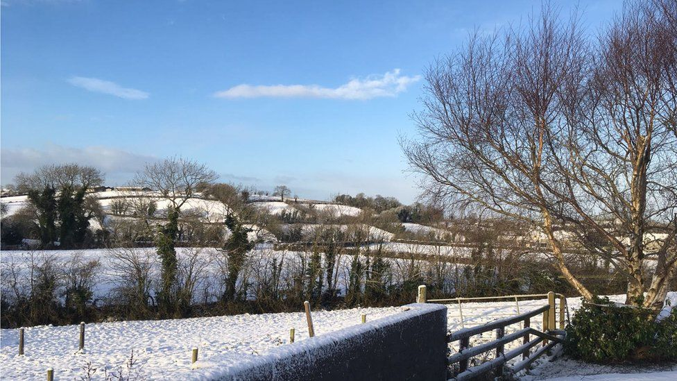 Middletown, Armagh in a blanket of snow