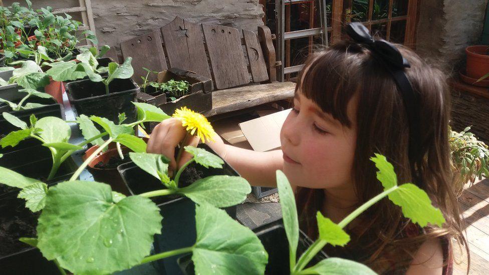 Sirena Sutton, aged five