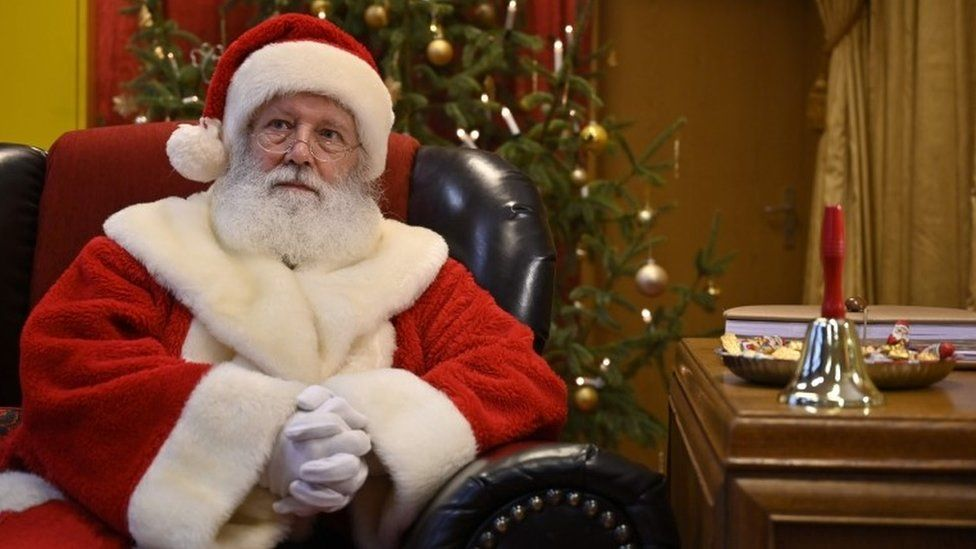 Santa in traditional outfit