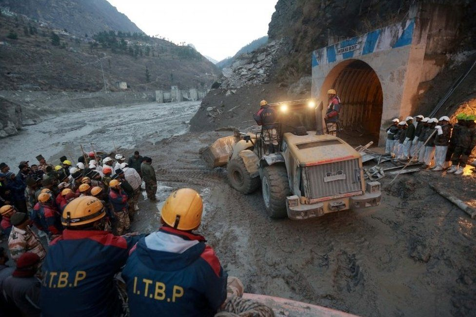 Up to 35 people are believed to be trapped in the tunnel